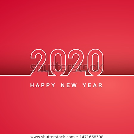 2020 new year party flyer poster template in white theme Stock photo © SArts