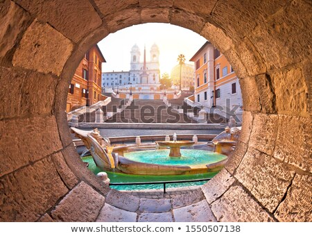 Spagnolo passi noto punto di riferimento Roma mattina Foto d'archivio © xbrchx