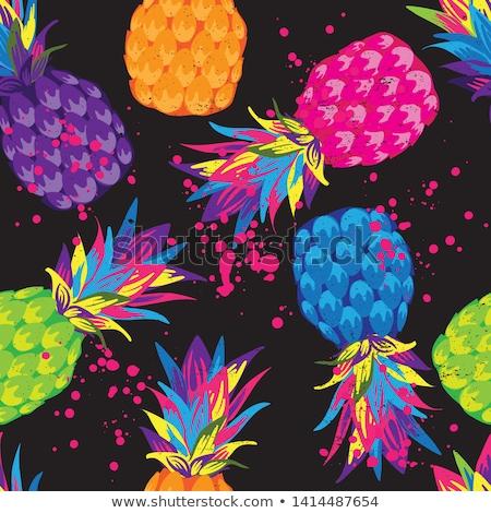 Sweet pineapple seamless pattern Stock photo © barsrsind