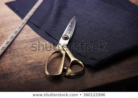 Сток-фото: ремесленник · рук · рабочих · занавес · иглы
