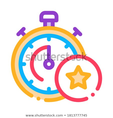 Prima cronógrafo icono vector ilustración Foto stock © pikepicture