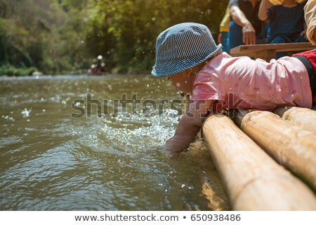 Baby piraat vlot illustratie water Stockfoto © adrenalina