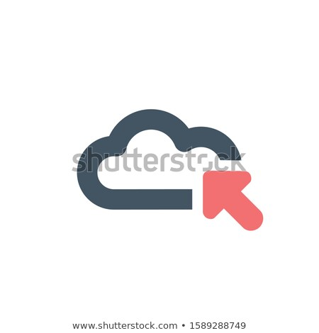 Cloud minimalistic iconwith an arrow in. Upload or download data concept. Stock Vector illustration  Stock photo © kyryloff