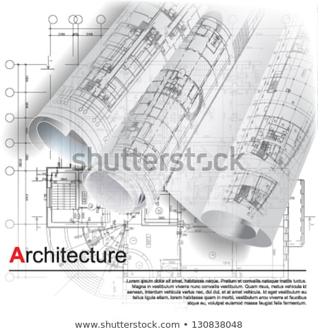 Urban vector architectural background for your architectural plan, technical project, abstract desig Stock photo © designleo