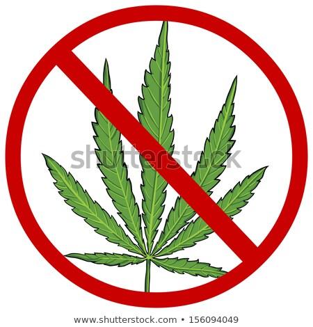 знак остановки лист нет наркотики плохо Сток-фото © -TAlex-