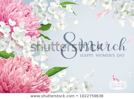 Floral vector greeting card for 8 March in watercolor style with Stock photo © LisaShu