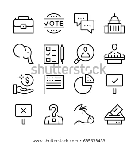 Congress Icon Vector Outline Illustration Stock photo © pikepicture