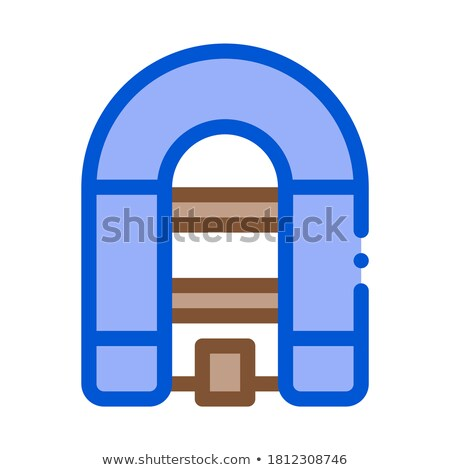 Inflatable Spacious Boat Icon Vector Outline Illustration Stock photo © pikepicture