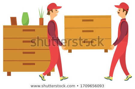 Delivery Workers Carry Chest of Drawers Vector Stock photo © robuart