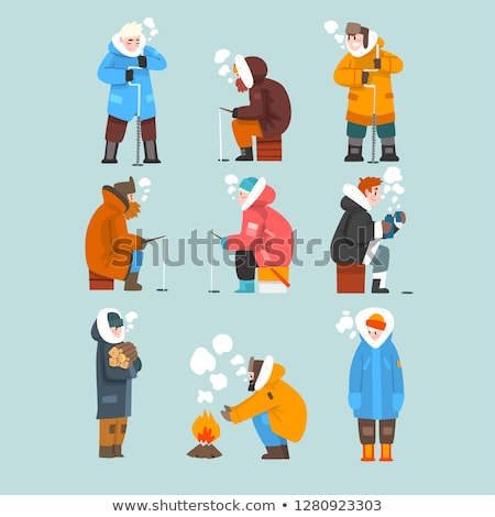 Winter Characters Hobbies Activities Collection Stock photo © robuart