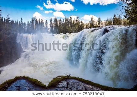 Vízesés western Svédország egy gyönyörű vízesések Stock fotó © cookelma