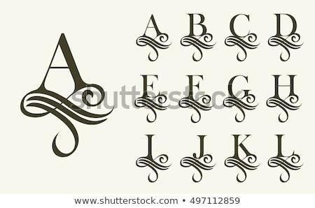 Capital letter D Stock photo © grafvision