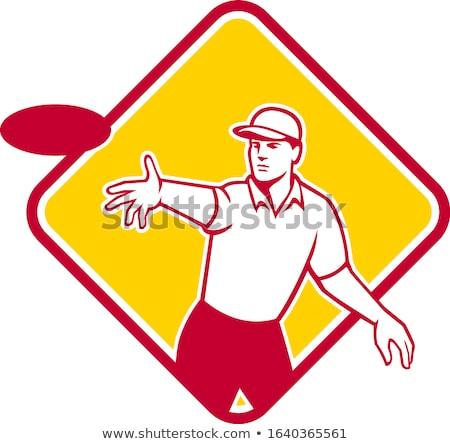 Ultimate Frisbee Player Catching Disc Mascot Stock photo © patrimonio