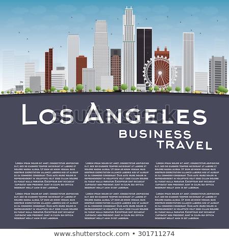 Los Angeles skyline grijs gebouwen blauwe hemel exemplaar ruimte Stockfoto © ShustrikS