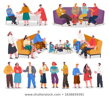 Home Reception Guests and Hosts Collection Vector Stock photo © robuart
