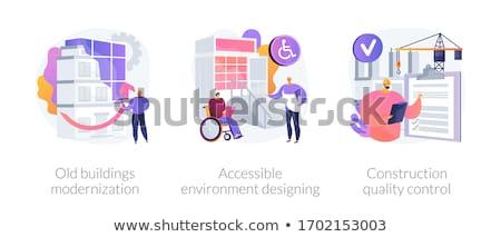 Buildings reconstruction abstract metaphors Stock photo © RAStudio