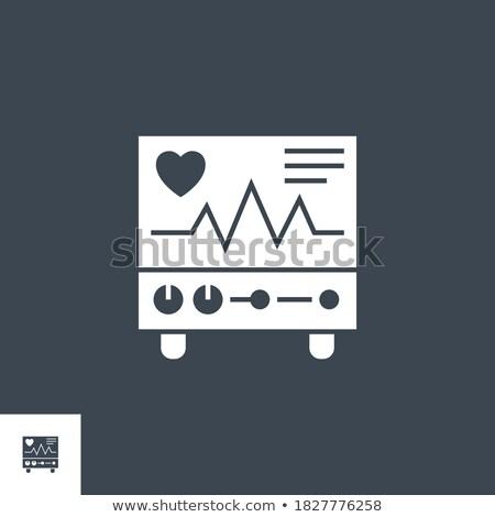 Szívdobbanás vektor ikon izolált fehér orvosi Stock fotó © smoki