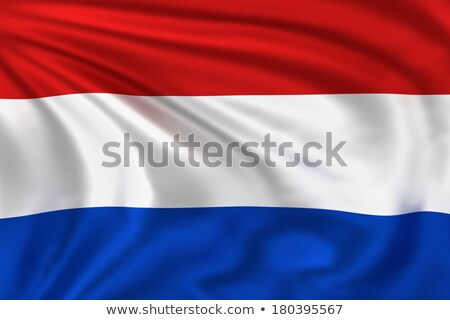 3D rendering of the national flag of Netherlands waving in the wind Stock photo © butenkow