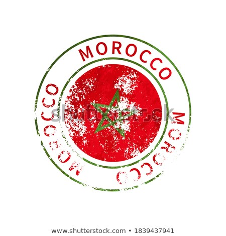 Morocco sign, vintage grunge imprint with flag on white Stock photo © evgeny89