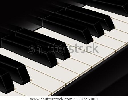 Piano de cauda teclado profundo reflexão teclas de piano Foto stock © rcarner