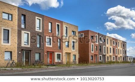 Tradicional casas Países Bajos edad pequeño pueblo Foto stock © Melnyk