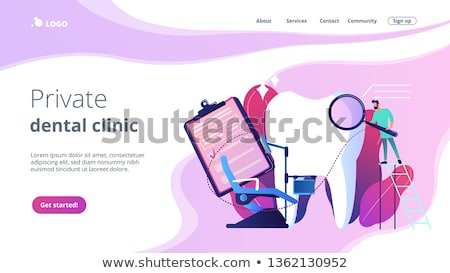 Private dentistry landing page concept Stock photo © RAStudio