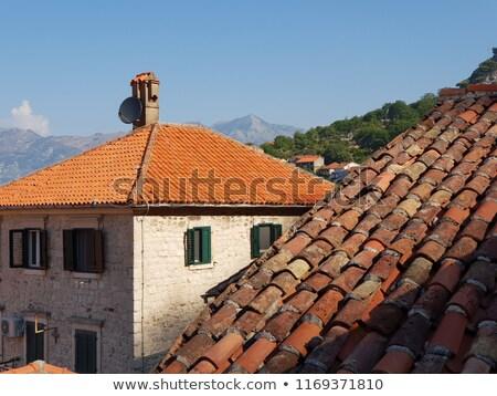 daken · veel · huizen · huis · markt · dak - stockfoto © simply