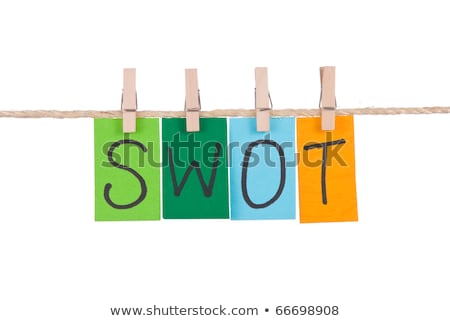 swot colorful words hang on rope stock photo © ansonstock