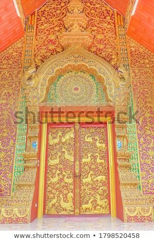 thai · estilo · anjo · estátua · Tailândia · cor - foto stock © stoonn