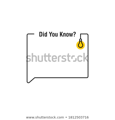 Speech Bubble - Facts stock photo © kbuntu