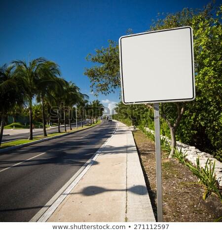 Канкун шоссе знак высокий разрешение графических облаке Сток-фото © kbuntu