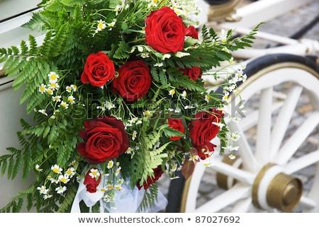 Wedding Carriage With Huge Bouquet On Side Stock photo © KonArt