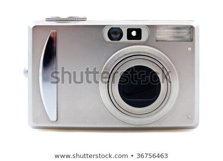 Gümüş dijital fotoğraf makinesi ışık parlak yakınlaştırma dışarı Stok fotoğraf © KonArt