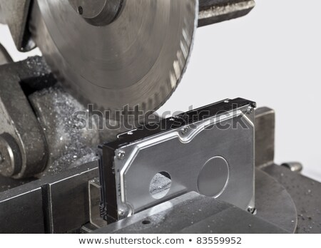 open hard disk with circular saw Stock photo © gewoldi