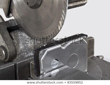 nyitva · merevlemez · körkörös · fűrész · technológia · fém - stock fotó © gewoldi