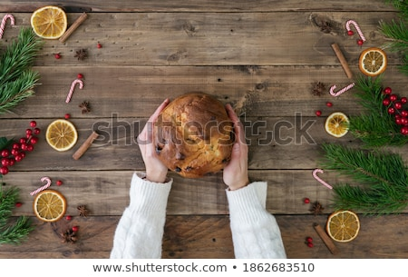 Christmas composition with panettone Stock photo © aladin66