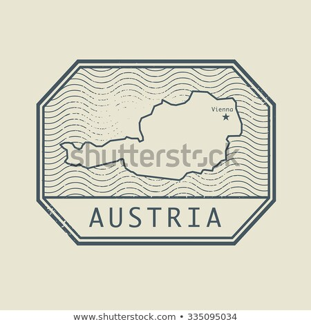 timbro · timbro · postale · Austria · mail · Europa · scratch - foto d'archivio © Myvector