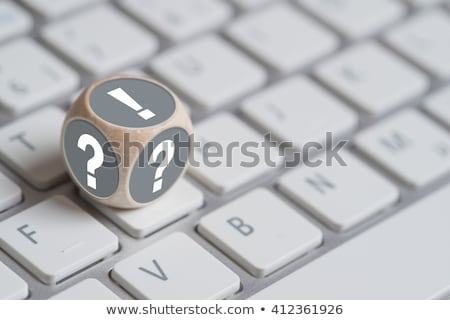 Dice with exclamation mark and question mark Stock photo © timbrk
