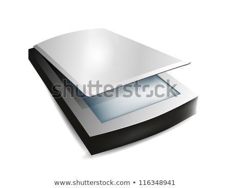 Dob szkenner izometrikus 3D számítógép hardver Stock fotó © Vectorminator