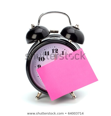 Alarm Clock and Note Pad Stock photo © supercrimson