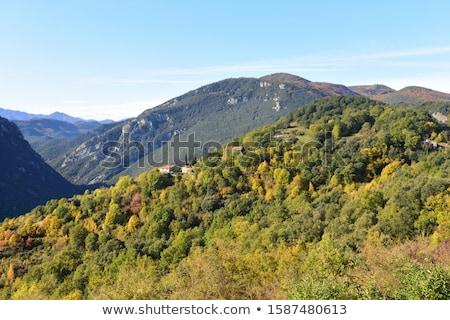 Taş kasaba ev sokak kaya Stok fotoğraf © arocas