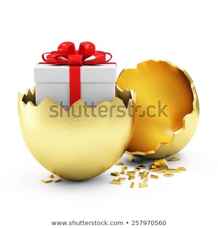Húsvéti tojások nagy doboz közelkép köteg durva Stock fotó © HerrBullermann