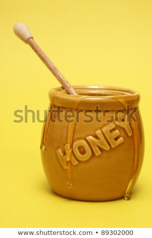 Confuso miel jar madera ejecutando líquido Foto stock © AlphaBaby