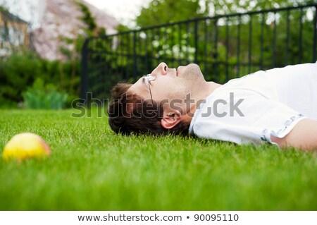 przystojny · mężczyzna · krawędź · basen · wody · człowiek - zdjęcia stock © hasloo