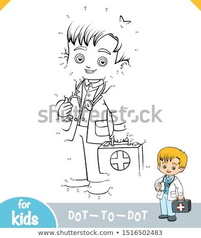 женщину · врач · из · ребенка · стетоскоп · тело - Сток-фото © lightkeeper