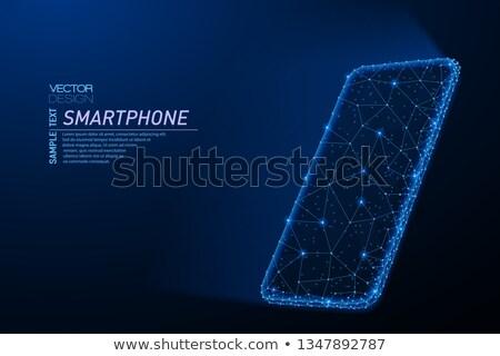 синий свет аннотация фары дизайна искусства Сток-фото © marinini