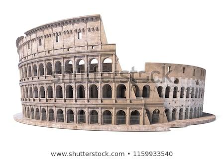 Roma colosseum eski ören Roma Stok fotoğraf © Kacpura