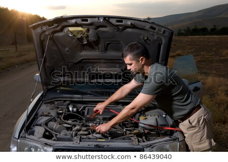 man using battery clips stock photo © photography33