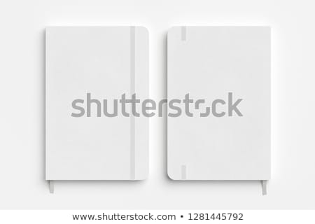 Defter elastik kâğıt kitap okul yazı Stok fotoğraf © gladiolus