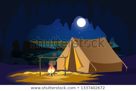 summer en fire vector illustration stock photo © carodi